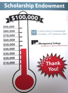 Montogmery College Scholarship Fund Through Gaithersburg Chamber of Commerce in Montogmery County MD